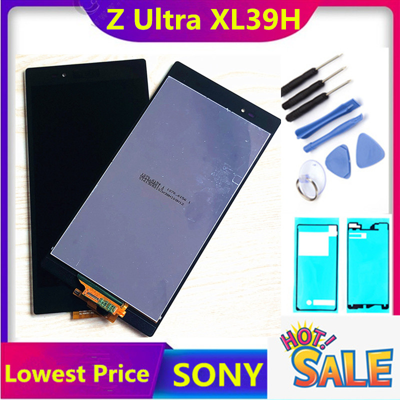 HTZF For Sony Xperia Z Ultra XL39h XL39 C6802 C6806 C6843 C6833 LCD Display Touch Screen Digitizer Assembly For Sony XL39H Lcd