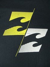 Nwot -Harajuku Streetwear Shirt Männer-Welle Logo - M - Marineblau T-Shirt C202