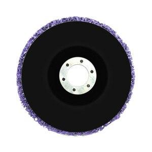Image 2 - 125mm Poly Streifen Disc Schleif Rad Farbe Rost Entferner Sauber Schleifen Räder für Langlebig Winkel Grinder Auto Lkw Motorräder