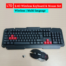 2.4G Wireless Keyboard Mouse Set For PC Desktop Laptop Russian Arabic Thai Hebrew Spanish French Italian Korean German Keyboard