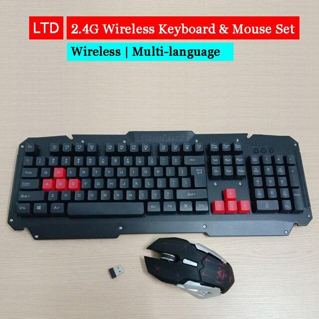 2.4G kablosuz klavye fare seti bilgisayar masaüstü dizüstü rusça arapça tay İbranice İspanyolca fransızca İtalyanca kore alman klavye