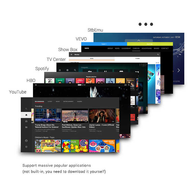 HD 4K Android 7.1 TV Box S905D 2G/16 GB Black Set Top Box Media Player 2020 smart TV Box