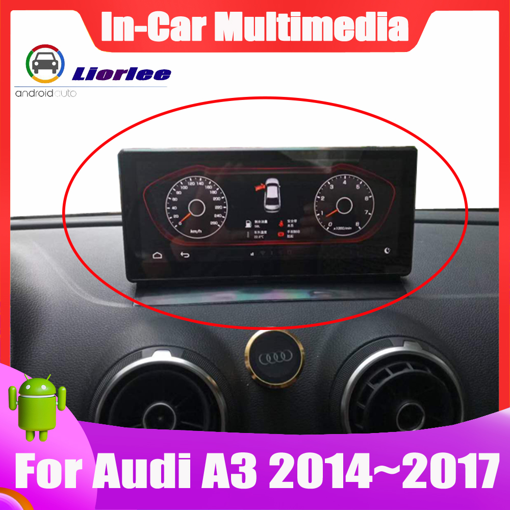 <font><b>10.25</b></font> <font><b>inch</b></font> Android System Car Multimedia player GPS Navigation For <font><b>Audi</b></font> A3 2014~2017 IPS screen image