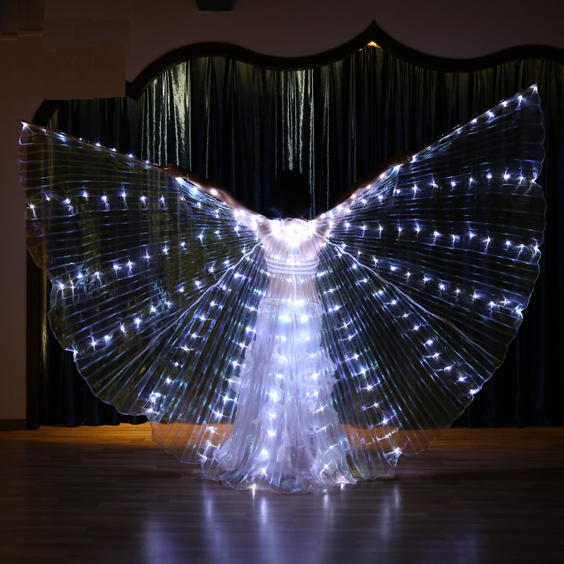 New Wings Sticks Adult Children Led Wings Belly Dance Lamp Props 360 Degrees Accessories Children Led Performance Clothing