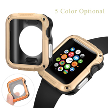 SGP PC Case Cover Anti-fall Frame For Apple Watch case 44mm 40mm 42mm 38mm Protector For iwatch Series 4 3 2 1 Shell Accessories все цены