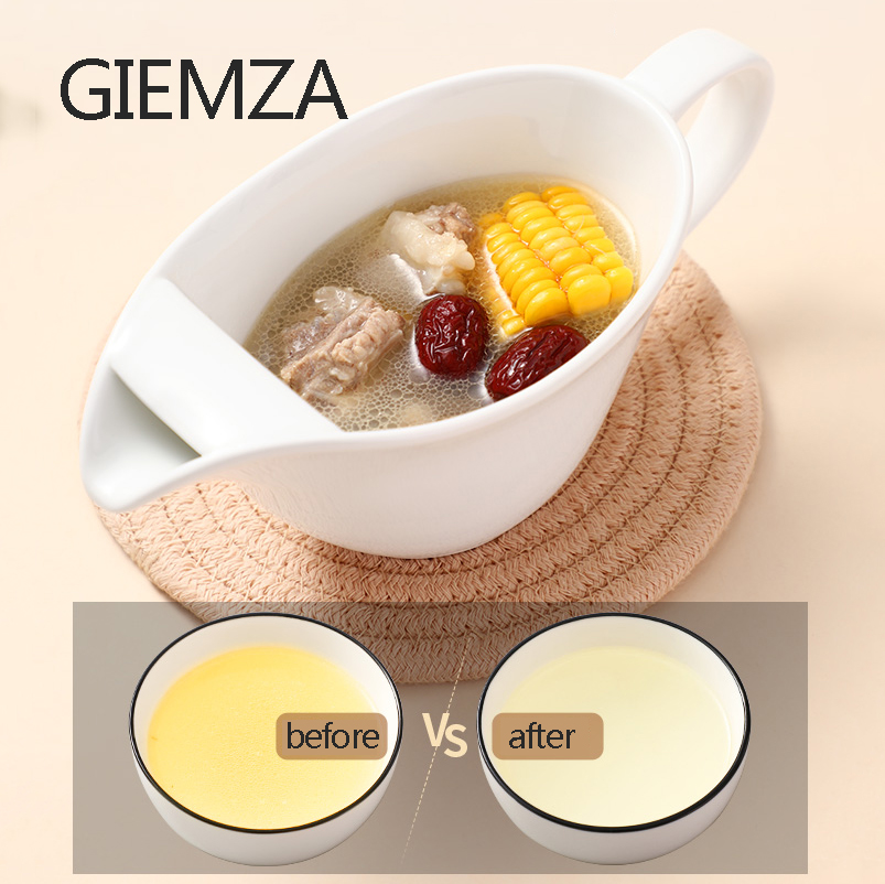 GIEMZA Oil Soup Separation Fat Loss Support for Food Less Oil Is Healthier Remove Oils Women Men Diet Meal Tableware image