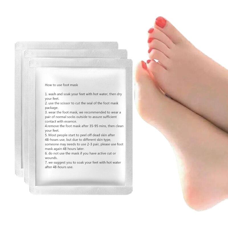 Destaque! 1 embalagens Peeling pés máscara esfoliante meias meias Pedicure cuidados remover cutículas pele morta Suso