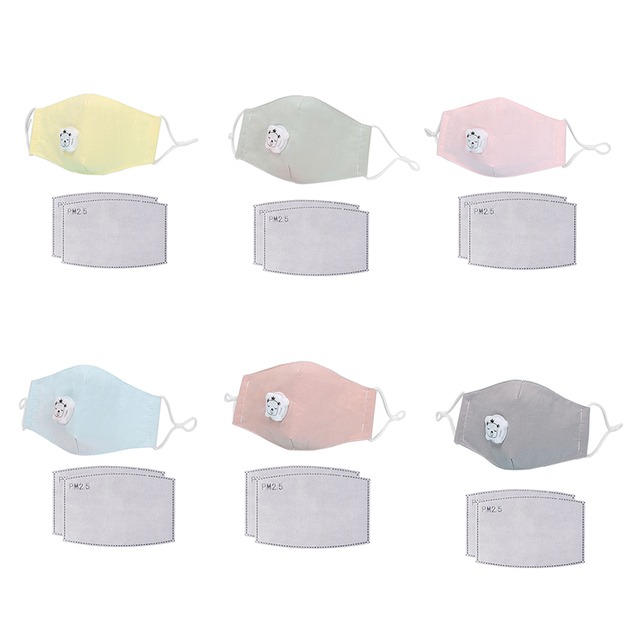 Boy Girl Anti Dust Face Mask Washing Anti PM2.5 Pollution Mask Kid Face Respirator Breathable Valve Masks Filter 3D Mouth Cover 1