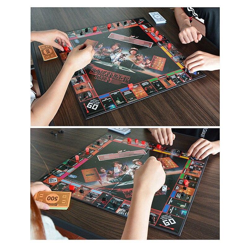 Étranger choses Monopoli jeu de société divertissement carte jeu Puzzle famille jeu pour enfants - 6
