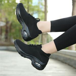 Image 2 - MWY Flying Woven Wedges Casual Shoes Women High Heel Sneakers Women Platform Shoes Zapatilla De Mujer Outdoor Walking Shoes