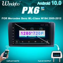 Autoradio PX6 1 DIN android autoradio pour Mercedes Benz ML GL W164 ML350 ML500 GL320 X164 ML280 GL350 GL450 écran audio automatique