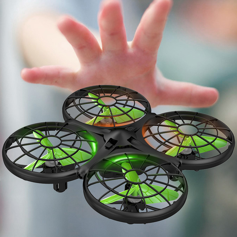 Original Syma new product X26 four-channel four-axis induction aircraft infrared obstacle avoidance remote control drone (Green)