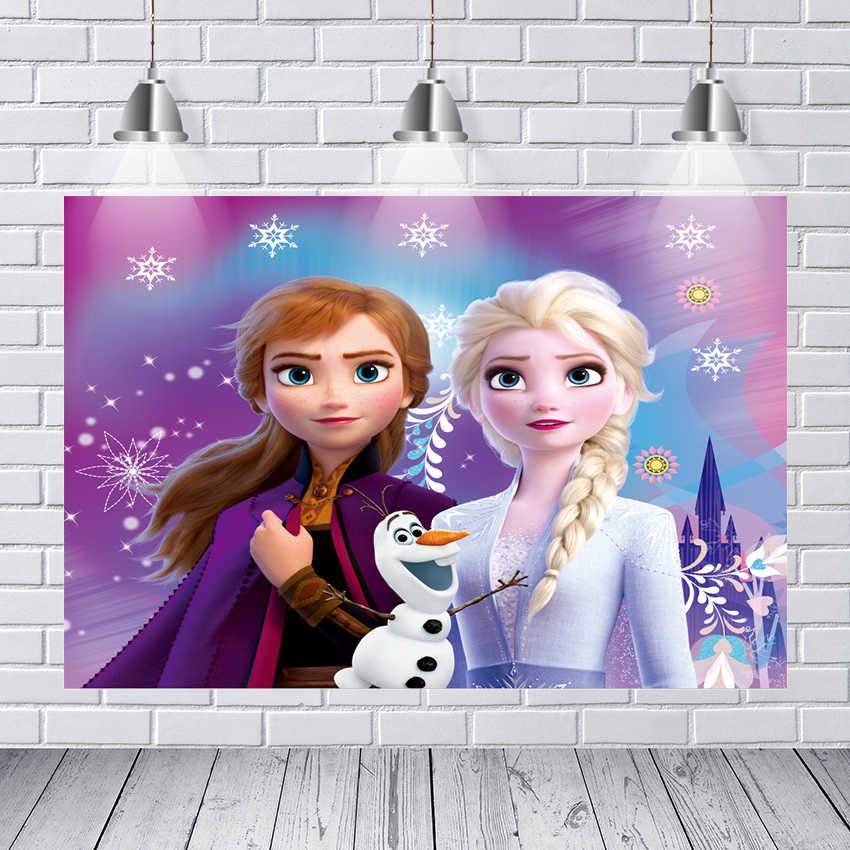 צילום תפאורות חדש קפוא 2 אנה נסיכת מלכת אלזה אולף פתית שלג ארמון מותאם אישית תמונה סטודיו רקע רקע ויניל