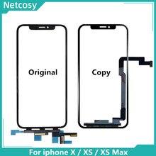 מסך מגע Digitizer זכוכית עדשת פנל עבור iPhone X XS XR XS מקסימום חיצוני מסך זכוכית מגע החלפת לוח iphone 11 XS XR