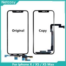 Panel de cristal con digitalizador de pantalla táctil para iPhone, repuesto de Panel de cristal exterior para iphone X XS XR XS Max, 11 XS XR