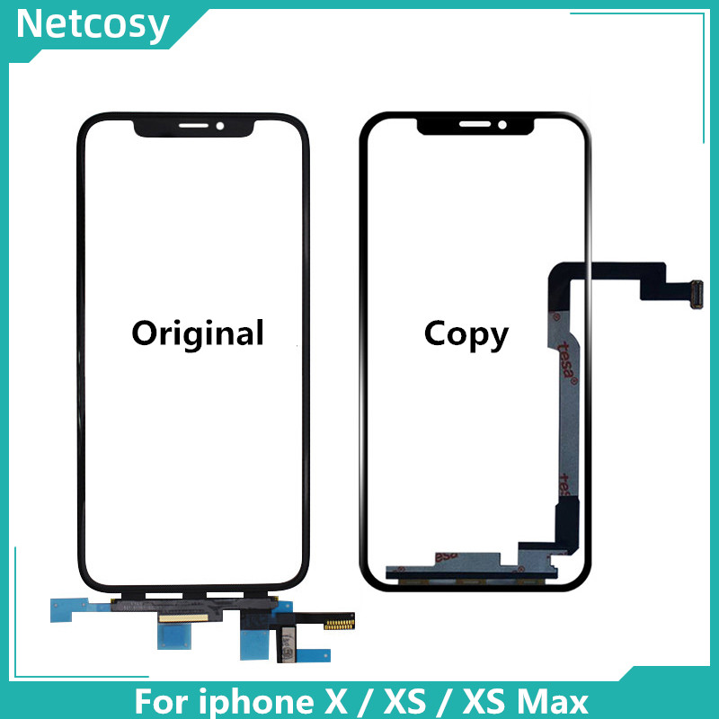 Touch Screen Digitizer Glass Lens Panel For IPhone X XS XR XS Max Outer Screen Glass Touch Panel Replacement For Iphone 11 XS XR