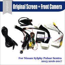 цены на For Nissan Sylphy Pulsar Sentra Car Front View camera System CANBUS Connect Original Factory Screen Monitor AUTO CAM Decoder  в интернет-магазинах