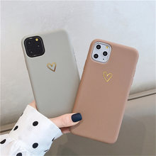 Untuk iPhone 11 Pro X XR X Max 6 6 S 7 7 Plus Fashion Cute Cartoon Emas cinta Hati Soft Cover(China)