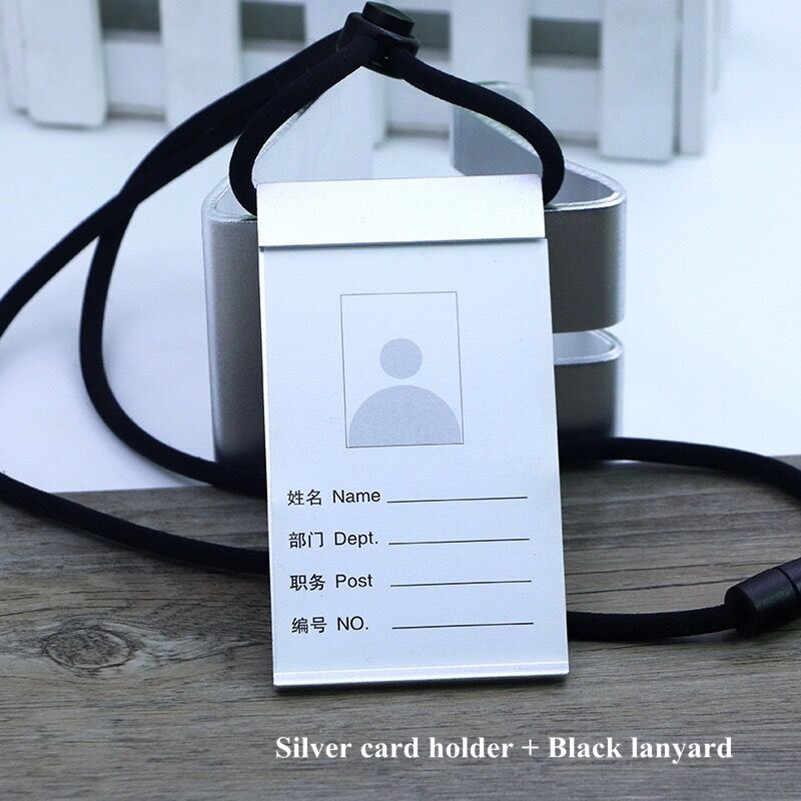 Aluminium ID Card badge name tag lanyard safety neck strap security pass holder