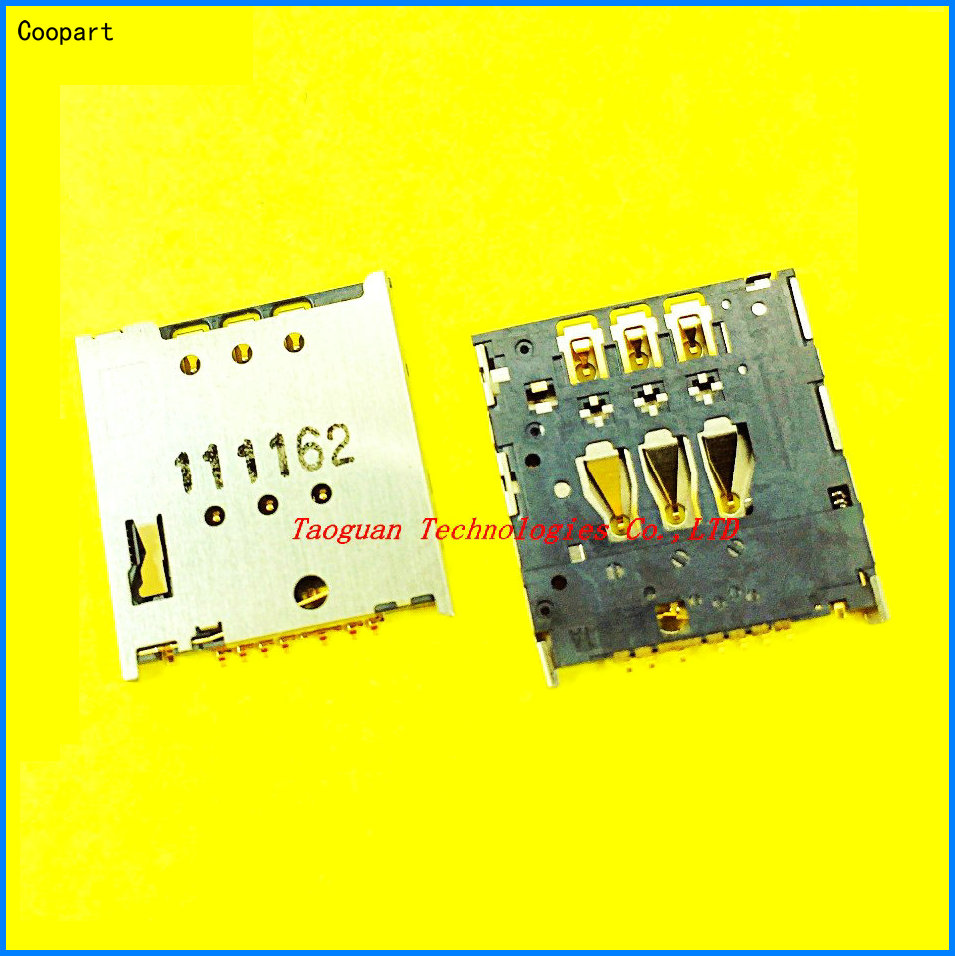 2pcs/lot Coopart New SIM Card Socket Reader Holder Slot Replacement For Motorola MOTO XT910 XT912 MT917 XT907 MB886 XT890