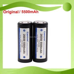 2PCS Original Keeppower 2019 Model 3.7V 26650 ICR26650 5500mAh PROTECTED Flashlight Battery Suit For CONVOY L6(China)