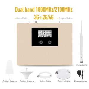 Image 5 - New Arrival!LCD display 2g 3g 4g mobile signal booster DUAL BAND 1800/2100mhz cellular signal cell phone repeater amplifier kit