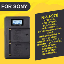 PALO NP-F960 NP-F970 NPF960 NPF970 LCD battery charger for SONY F930 F950 F770 F570 CCD-RV100 NP-F550 NP-F770 NP-F750 F960 F970 doscing 4pcs 7200mah np f960 np f970 np f930 rechargeable camera battery for sony f950 f330 f550 f570 f750 f770 mvc fd51