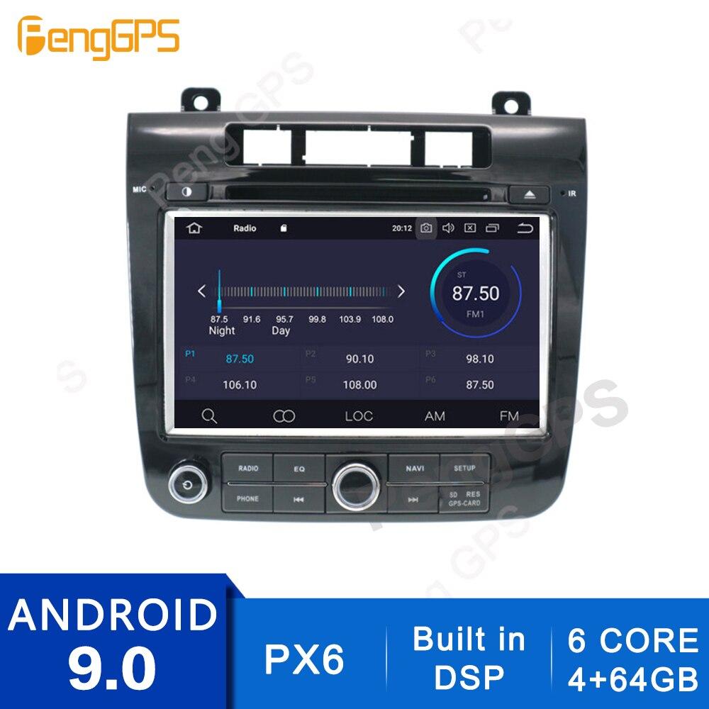 4G + 64G 2 Din Stereo Android 10.0/9.0 Radio samochodowe dla V W Touareg 2010-2017 nawigacja GPS odtwarzacz CD DVD wbudowany radioodtwarzacz DSP
