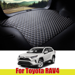 for Toyota RAV4 2005 ~ 2020 XA30 XA40 XA50 Leather Car Trunk Mat Carpet Tail Cargo Liner Boot Pad 2006 2007 2008 2009 2010 2011