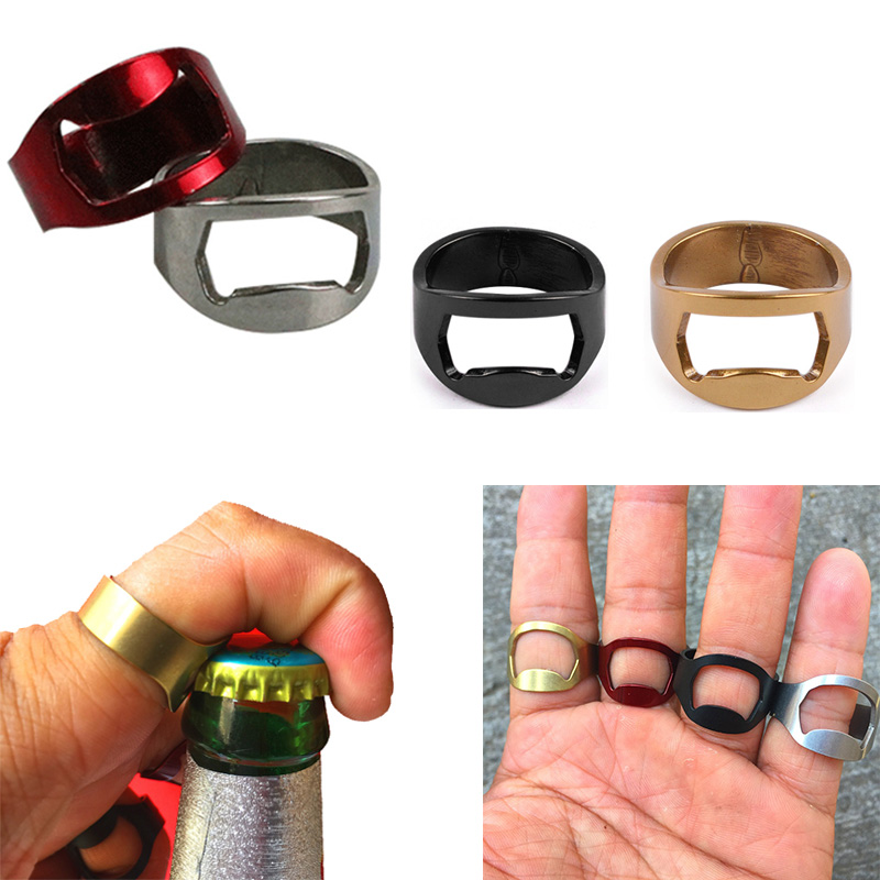 Beer Opener Finger Ring Bottle Opener Flesopener Bier Open Tools Easy Hand Finger Ring Open For Bar Home Outside Party