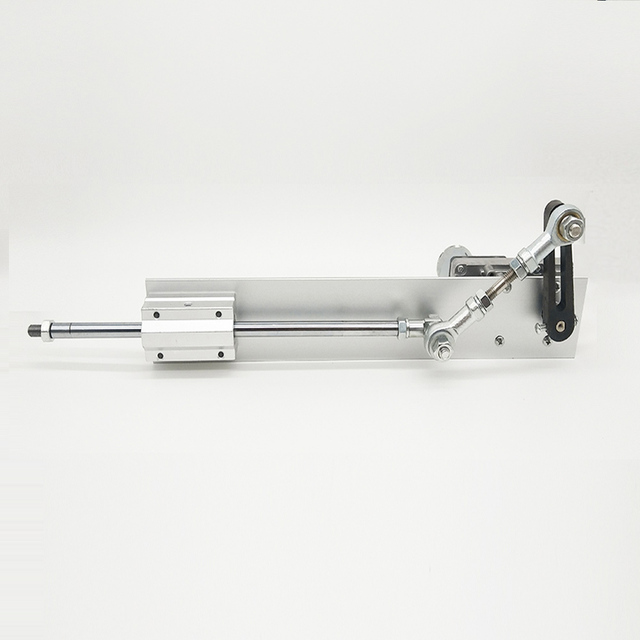 Фото телескопический линейный привод постоянный ток 12 в/24 в металлический
