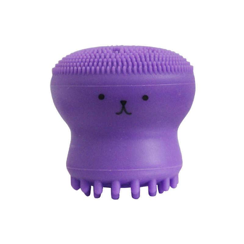 Piccolo Polpo strumento di Pulizia Spazzola di Pulizia del silicone Del Silicone Del Silicone di lavaggio pennello in silicone di bellezza di pulizia spazzola di lavaggio