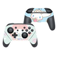 Cinnamoroll defne köpek çıkartma kaplama Sticker için Nintendo anahtarı Pro denetleyici Gamepad Joypad Nintendo anahtarı Pro Skins çıkartmalar