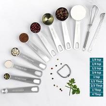 Juego de cucharas de medición, herramientas de medición de acero inoxidable de alta resistencia para cocina y Hornear en Casa