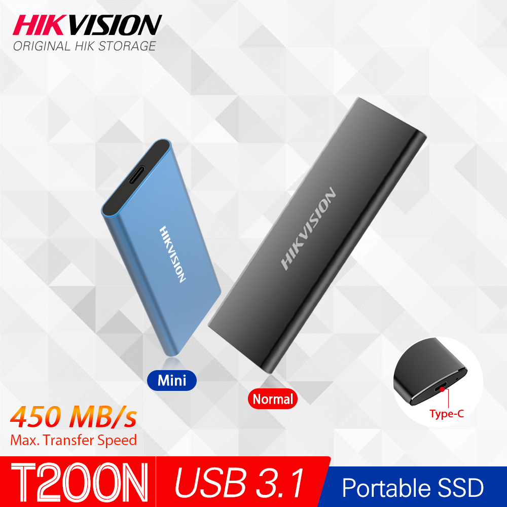 Hikvision HikStorage Portable SSD 128GB 512GB External SSD 1TB Disk Drive 256GB SSD USB3 1 Type-C Solid State Disk replace hdd