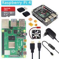 Raspberry Pi 4 Modello B 1/2/4 Gb di Ram Opzione 32 Gb Sd Card   Caso   adattatore di Alimentazione   Cavo di Hdmi per Raspberry Pi 4