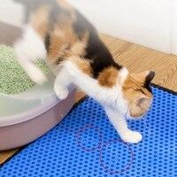 Pet Cat Leather Litter Mat Floor Dual Layer Eva Pu Waterproof Cat Litter Trapping Non-slip Pet Litter Cat Mat Pad Cat SuppliesCM