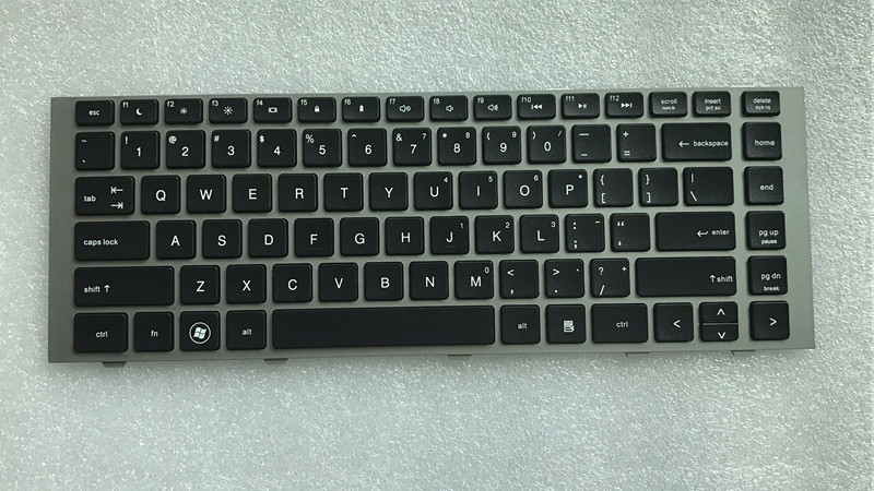 New FOR HP Probook 4440s 4441s 4445s 4446s Series Keyboard US Black With Frame