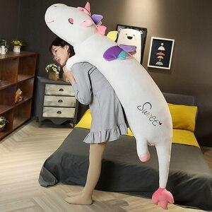 AAA новые высококачественные большие мягкие игрушки единорога, мягкие плюшевые игрушки животных, милый Единорог, лошадка с куклой, Детская к...