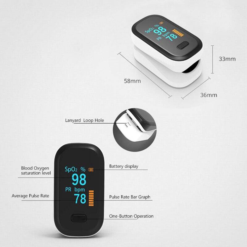 Пульсоксиметр spo2 PR на палец, портативный измеритель пульса и уровня кислорода в крови, с OLED-экраном пульсоксиметр на палец оксиметр пульсометр пульоксиметр сатуратор пульсаксиметр пульсикометр измеритель кислорода 4