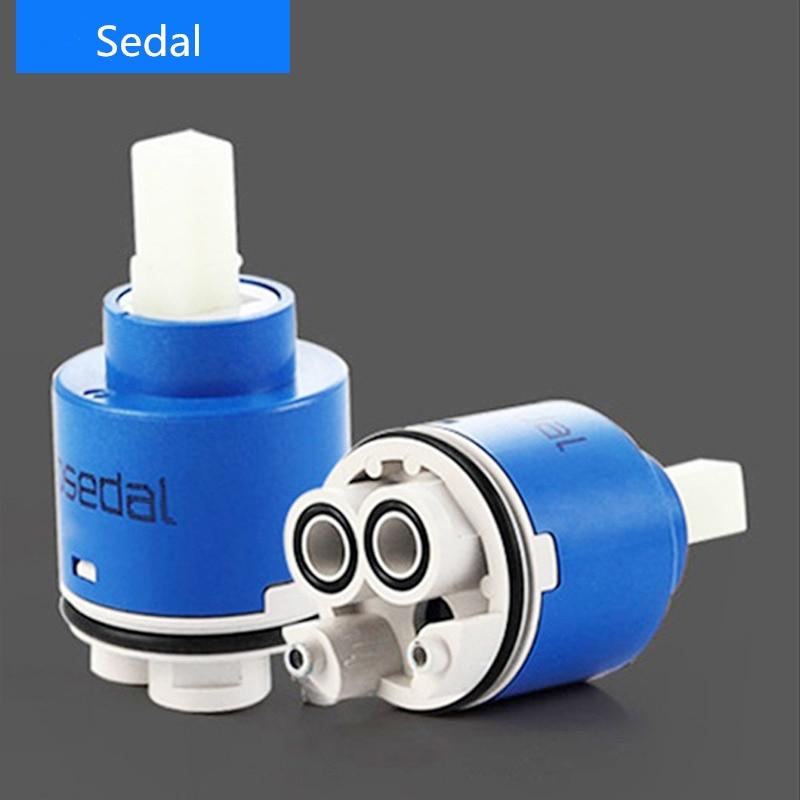 Ceramic Cartridge Spain Famous SEDAL Brand 35 Mm/40 Mm  High Leg Faucet Ceramic Cartridge Faucet Valve Faucet Accessories