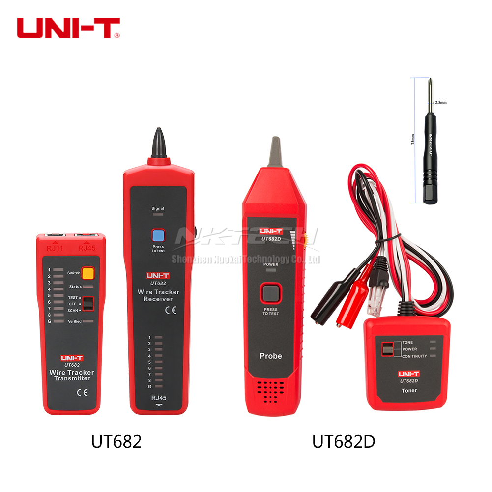 UNI-T Wire Tracker Tester UT682 UT682D Circuit RJ11 RJ45 Telephone Wires Tracking Line Finder LAN Cable Network Detector Tool