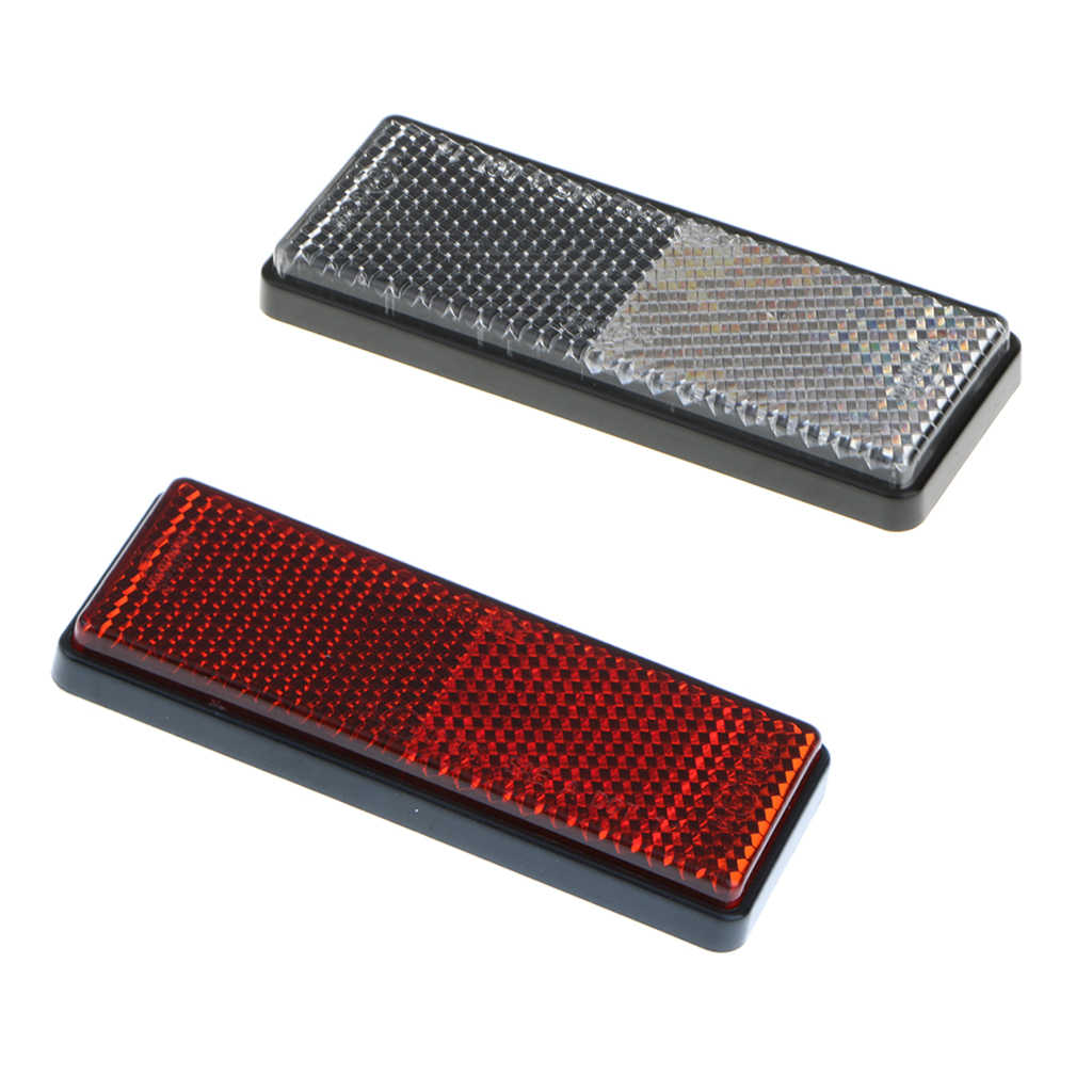 Cycle Bike Bicycle Reflector Light Reflective Red Strips Stick On Self Adhesive