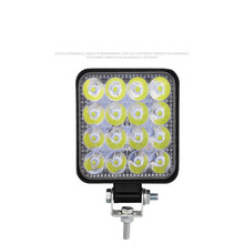 цена на Mini 16LED 27W 48W LED Square Work Light Bar 12V 24V Off-road LED Light Spotlight for Off-road Truck 4X4 4WD Car SUV ATV
