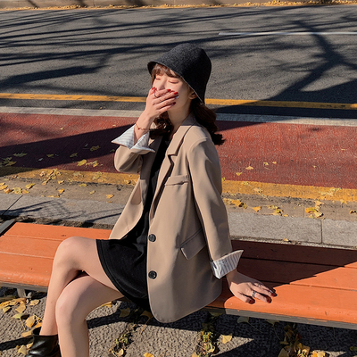 2020 Autumn Fashion Women's Coat Winter Jacket Suit Single Breasted Notched Office Lady Coats And Jackets Women Blazer Femme blu