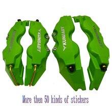 8 farben 4 Oder 2 Pcs ABS Kunststoff Disc Bremssattel Abdeckung Mit Logo Vorne Hinten Aufkleber Für Alle Autos auto Styling Kostenloser Versand
