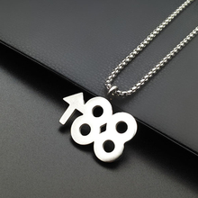 oulai777 men necklaces pendants wholesale stainless steel chain hip hop personalized on the neck Simple Accessories