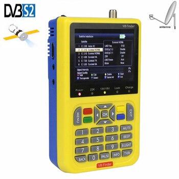 iBRAVEBOX V8 Finder HD Digital Satellite Finder Signal Meter Full  DVB-S/S2 H.264 With 3.5 Inch LCD FTA Sat Finder TV Satellite