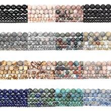 45 style koraliki z kamienia naturalnego matowy kwarc amazonit okrągły luźne matowe koraliki do tworzenia biżuterii DIY Charm bransoletki 4-12MM