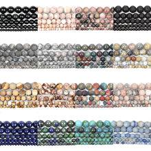 45 estilos de pedra natural contas matte quartzo amazonite redonda solta contas geadas para fazer jóias diy charme pulseiras 4-12mm